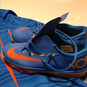 Blue and Orange sneakers